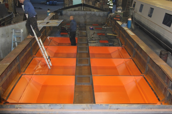 Copper Jack - Buoyancy tanks with protective paint