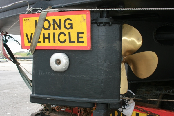 Not sure if anyone will see this Long Vehicle sign when Copper Jack is in the water ;-)