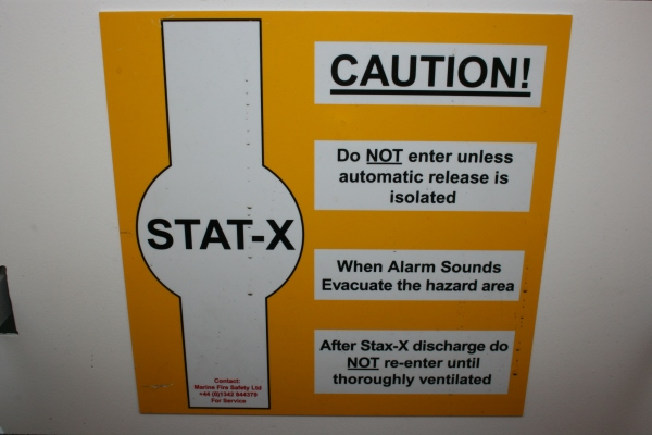 Stat-X fire suppression system (engine room)