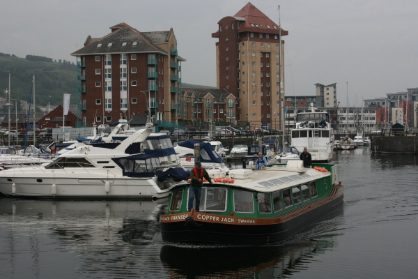 Copper Jack back in Swansea Marina